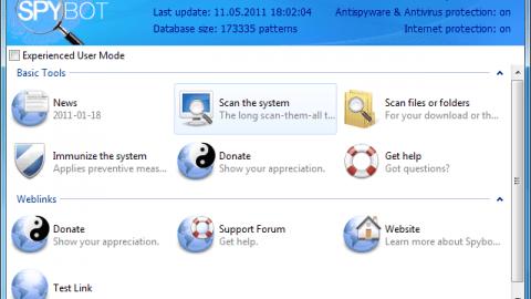 Descargar Spybot 2.0 Search & Destroy para mantener nuestro ordenador libre de programas maliciosos