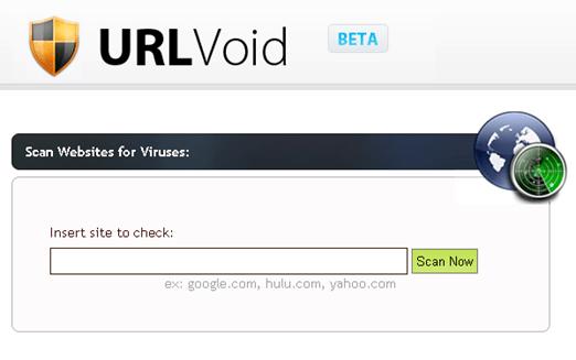 URLVoid online