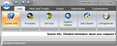 EnhanceMySe7en: optimiza tu Windows Seven de forma gratuita